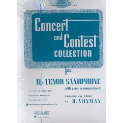 Concert and Contest Collection for Tenor Saxophone : CD