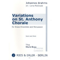 Brahms, Johannes: Variations on St. Anthony Chorale : for brass ensemble and percussion score and parts