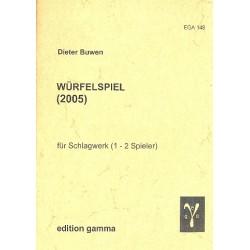 Buwen, Dieter: Würfelspiel : für Schlagwerk (1-2 Spieler) 2 Spielpartituren mit Aufführungshinweisen