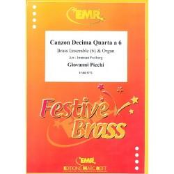 Picchi, Giovanni: Canzon decima quarta a 6 : für 6 Blechbläser und Orgel Partitur und Stimmen