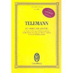 Telemann, Georg Philipp: Suite a-Moll : f├╝r Fl├Âte und Streichorchester Studienpartitur