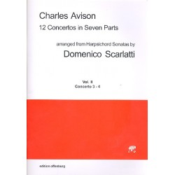 Avison, Charles: 12 Concertos in 7 Parts vol.2 (no.3-4) for 7 strings score