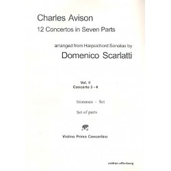 Avison, Charles: 12 Concertos in 7 Parts vol.2 (nos.3-4) for 7 strings set of parts
