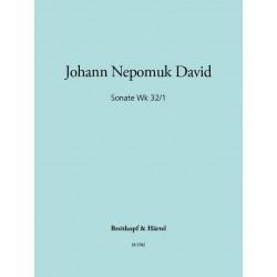 David, Johann Nepomuk: Sonate op.32,1 : für Flöte und Viola Spielpartitur