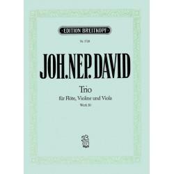David, Johann Nepomuk: Trio op.30 für Flöte, Violine und Viola Stimmen