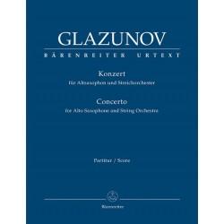 Glasunow, Alexander: Konzert Es-Dur op.109 : f├╝r Altsaxophon und Streichorchester Partitur