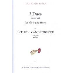 Vandenbroek, Othon: 3 Duos concertant : für Flöte und Horn Partitur und Stimmen