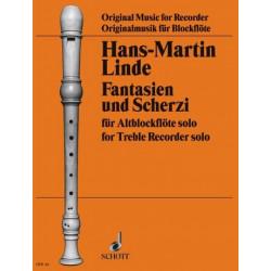 Linde, Hans Martin: Fantasien und Scherzi : f├╝r Altblockfl├Âte solo