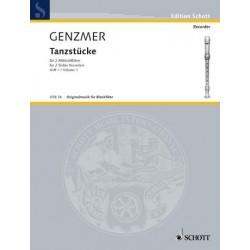 Genzmer, Harald: Tanzstücke Band 1 : für 2 Altblockflöten Spielpartitur