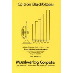 Bach, Johann Sebastian: Jesus bleibet meine Freude BWV147 für 4 Trompeten und Orgel Partitur und 2 Trompetenpartituren