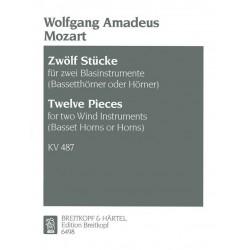 Mozart, Wolfgang Amadeus: 12 Duos KV487 für 2 Hörner Spielpartitur