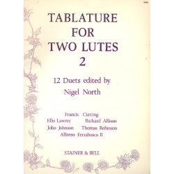 Tablature vol.2 : for 2 Lutes parts
