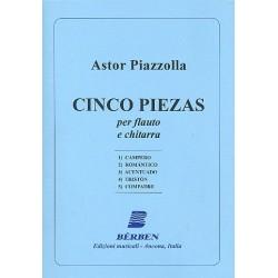 Piazzolla, Astor: 5 Piezas per flauto e chitarra partitura i parti