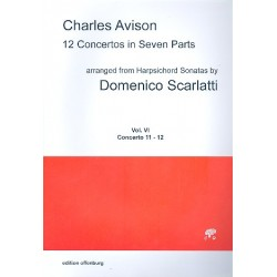Avison, Charles: 12 Concertos in 7 Parts vol.6 (nos. 11-12) for 7 strings score
