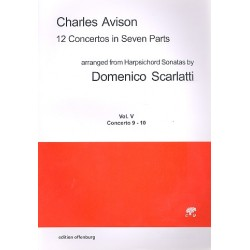Avison, Charles: 12 Concertos in 7 Parts vol.5 (nos. 9-10) for 7 strings score