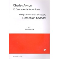 Avison, Charles: 12 Concertos in 7 Parts vol.1 (nos. 1-2) for 7 strings score