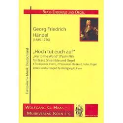 Händel, Georg Friedrich: Hoch tut euch auf : für 7 Blechbläser und Orgel Partitur und Stimmen