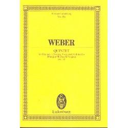 Weber, Carl Maria von: Quintett B-Dur op.34 : für Klarinette und Streichquartett Studienpartitur