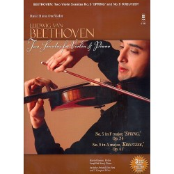 Beethoven, Ludwig van: 2 Sonatas for Violin and Piano (+CD) : violin part