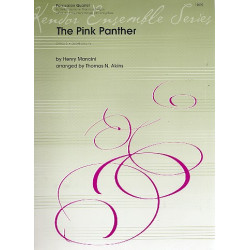 Mancini, Henry: The Pink Panther : for 4 percussionists and string bass score and parts