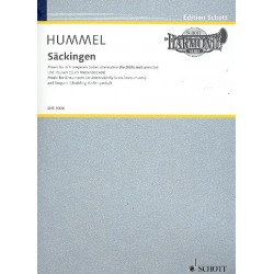 Hummel, Bertold: Säckingen op.103f : für 6 Trompeten (Blechbläser) und Pauken (Nietenbecken) Partitur