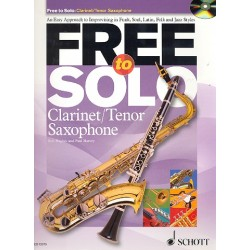 Hughes, Rob: Free to solo (+CD) : for clarinet (tenor saxophone)