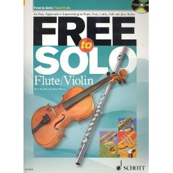 Hughes, Rob: Free to solo (+CD) : for flute (violin)