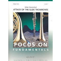 Hannickel, Mike: Attack of the Slide Trombones : for solo trombones and concert band score