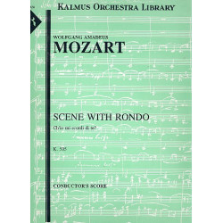 Mozart, Wolfgang Amadeus: Ch'io mi scordi di te KV505 : for soprano, piano obligato and orchestra score (it)
