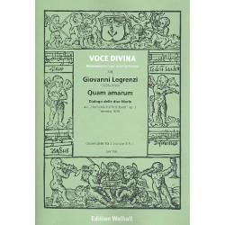 Legrenzi, Giovanni: Quam amarum : für 2 Soprane und Bc 3 Partituren (Bc nicht ausgesetzt)