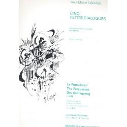 Damase, Jean-Michel: 5 petits dialogues : pour marimba et harpe (piano) parties