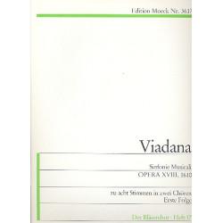Viadana, Lodovico Grossi da: Sinfonie musicali zu 8 Stimmen in 2 Chören op.18 Band 1 Partitur und Spielpartitur
