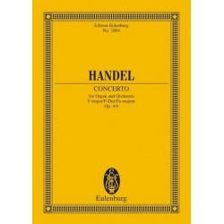 Händel, Georg Friedrich: Concerto f major : organ and string orchestra op.4/4 Studienpartitur