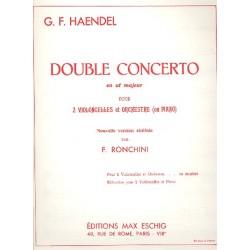 Händel, Georg Friedrich: Double concerto ut majeur pour 2 violon- celles et orchestre : pour 2 violon- celles et piano