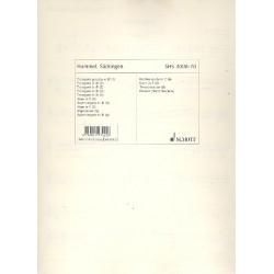 Hummel, Bertold: Säckingen op.103f : für 6 Trompeten (Blechbläser) und Pauken (Nietenbecken) Stimmenset