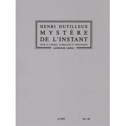 Dutilleux, Henri: Mystere de l'instant : pour 24 cordes, cymbales et percussion partition de poche