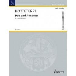 Hotteterre, Jacques Martin Le Romain: Dou et rondeau : for 2 alto recorders score