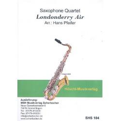 Londonderry Air: für 4 Saxophone (SATBar) Partitur und Stimmen