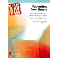 Favourites from Russia : für 5-stimmiges Bläser-Ensemble (Percussion ad lib) Partitur und Stimmen