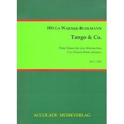 Warner-Buhlmann, Helga: Tango und Co : für 3 Klarinetten Partitur und Stimmen