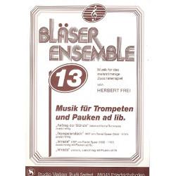 Bläserensemble Band 13 : für 2-4 Trompeten (Pauken ad lib) Partitur und Stimmen