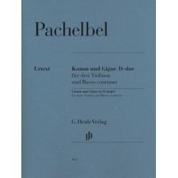 Pachelbel, Johann: Kanon und Gigue D-Dur : für 3 Violinen und Bc Partitur und Stimmen