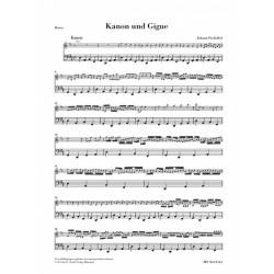 Pachelbel, Johann: Kanon und Gigue D-Dur : für 3 Violinen und Bc Basso continuo