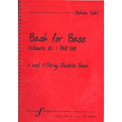 Bach, Johann Sebastian: Suite Nr.1 BWV1007 : für E-Bass