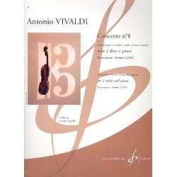 Vivaldi, Antonio: Concerto no.8 pour 2 violons, cordes et Bc : pour 2 altos et piano parties