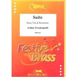 Frackenpohl, Arthur: Suite : f├╝r Horn, Trompete, Posaune und Percussion Partitur und Stimmen