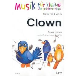 Letzbor, Gunar: Die Abenteuer des kleinen Clowns für 3 Violen Spielpartitur mit Text