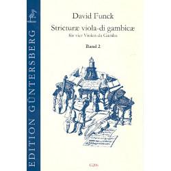 Funck, David: Stricturae viola-di gambicae Band 2 (Nr.17-32) für 4 Violen da gamba Partitur und Stimmen