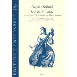 Kühnel, August: Sonate o Partite Band 4 (Sonaten 9-10) : für 1-2 Violen da gamba und Bc Partitur und Stimmen (Bc nicht