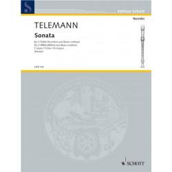 Telemann, Georg Philipp: Sonate : f├╝r 2 Altblockfl├Âten und Bc